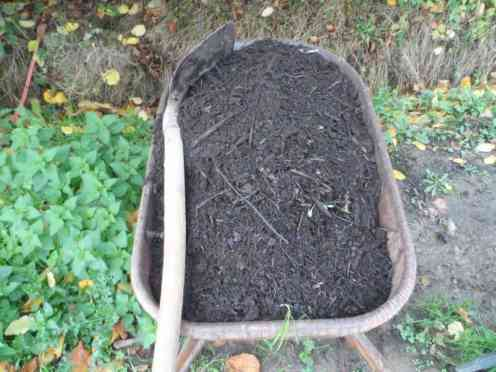 En natuurlijk ook veel compost!