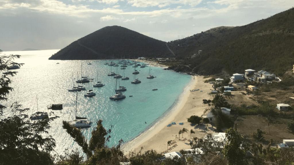 White Bay anchorage British Virgin Islands