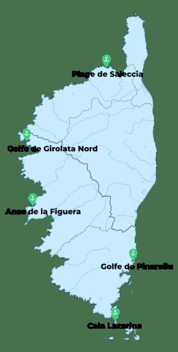les meilleurs mouillages de Corse