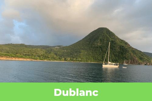 mouillage Dublanc en Dominique