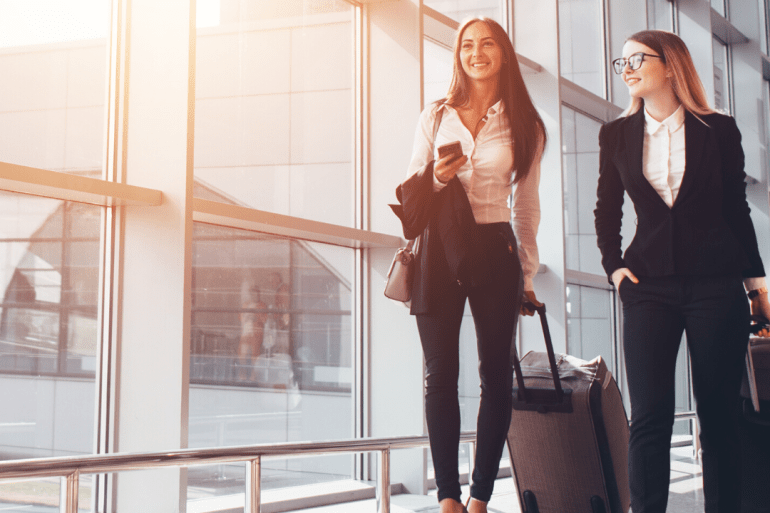 Women traveling with insurance