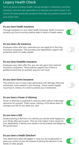 With your Wealth Health Check inside the nav.it money tracking app you can keep your financial wellness front and center