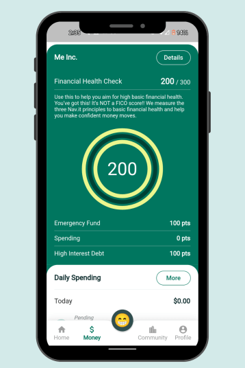 Improve your financial health with the nav.it money tracking app.