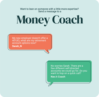 Money coaches are standing by, all with the Nav.it Mindset subscription
