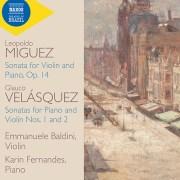 Podcast: Music of Brazil. Violin sonatas by Minguéz and Velásquez.