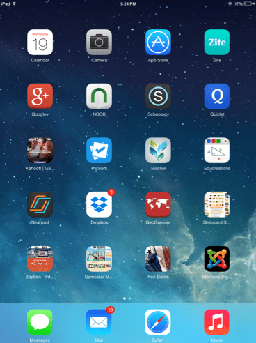 iPad Home Screen Jarvis