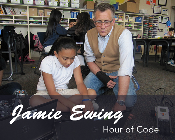 Washington's Jamie Ewing Hour of Code