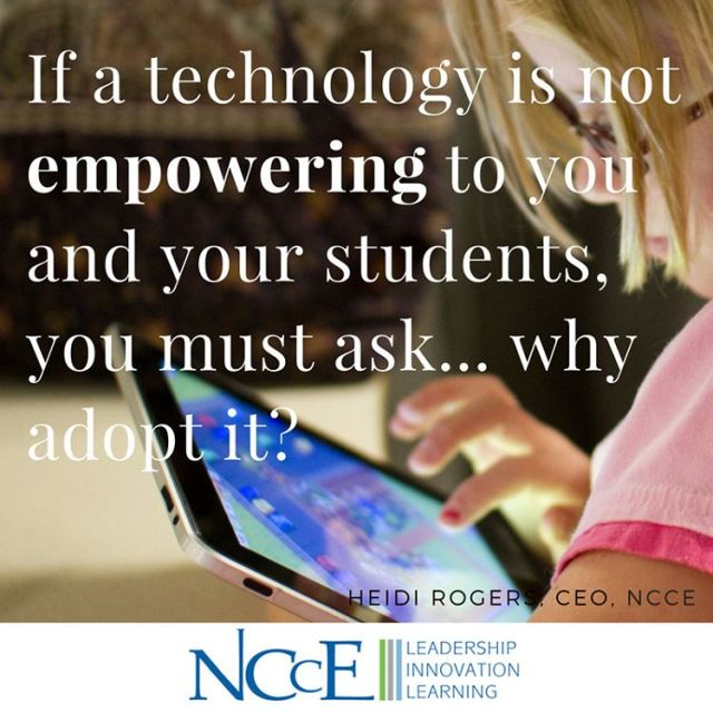 Adopt technology with purpose!!! wisdomwednesday nccechat edtech