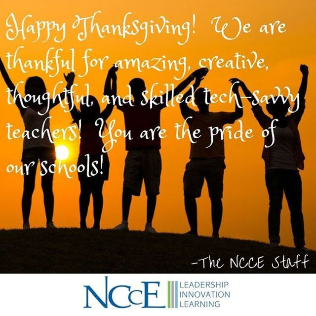 Happy Thanksgiving from the NCCE staff!!