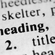 Making your documents more Accessible: Headings