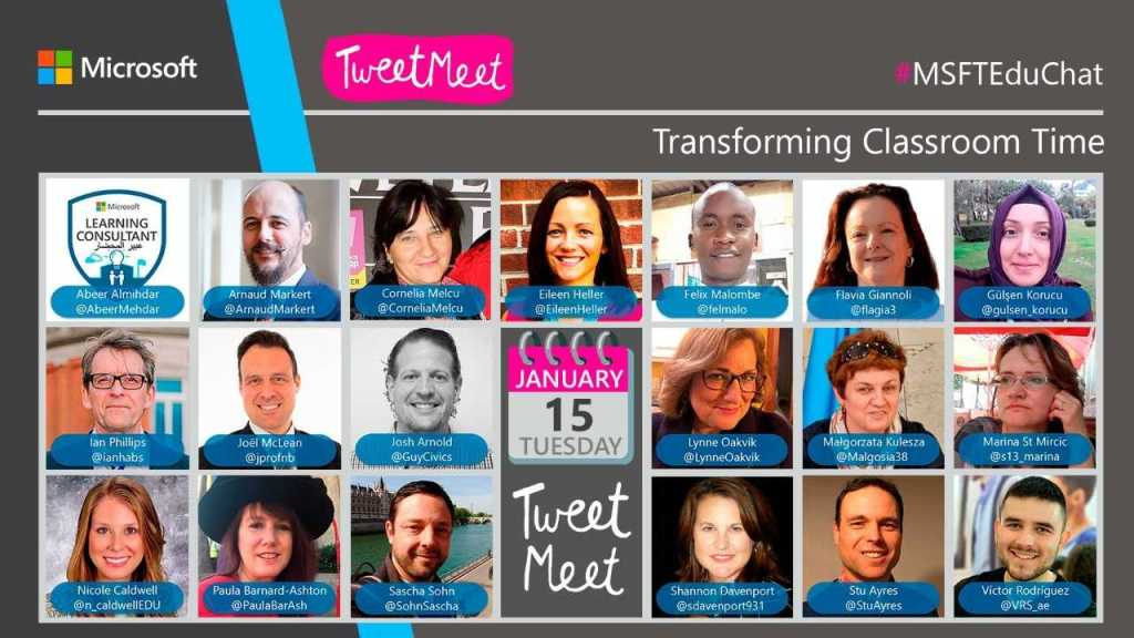 Visual of all TweetMeet Hosts