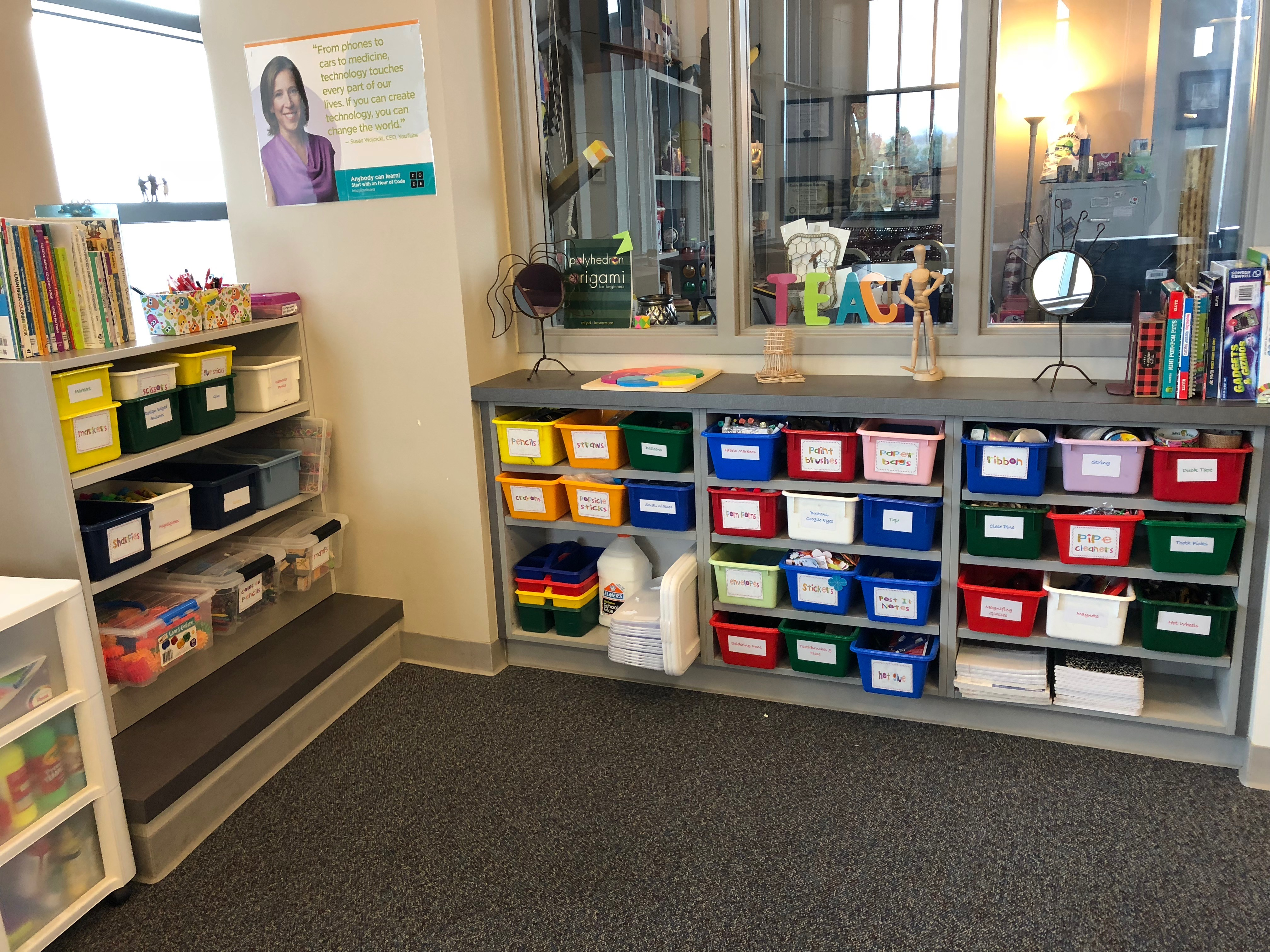 Maker supply nook close up - NCCE's Tech Savvy Teacher Blog