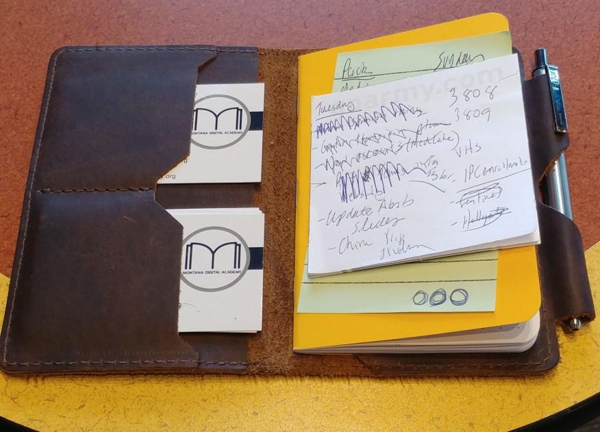 Notebook in Leather Portfolio