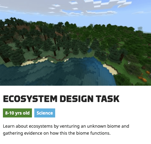 Exploring Food Chains with Minecraft Education Edition