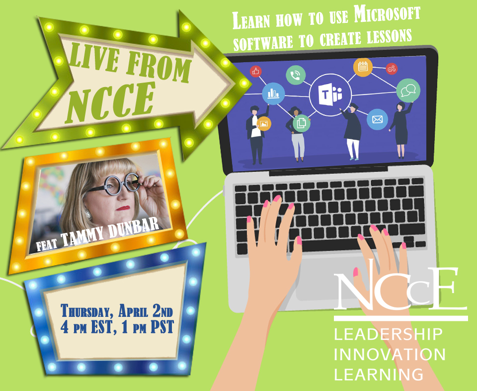 "Live from NCCE Archive: ""How to Use Microsoft Software to Create Lessons"" with Tammy Dunbar"