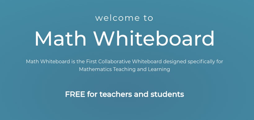 Math Whiteboard: Amazing free tool worth a look!