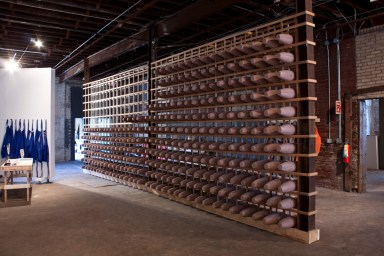 Amber Ginsburg Collaborative with Joseph Madrigal Flo(we){u}R, 2013 Replica WW1 Dummy Test Bomb Factory at The Soap Factory, Minneapolis, Minnesota
