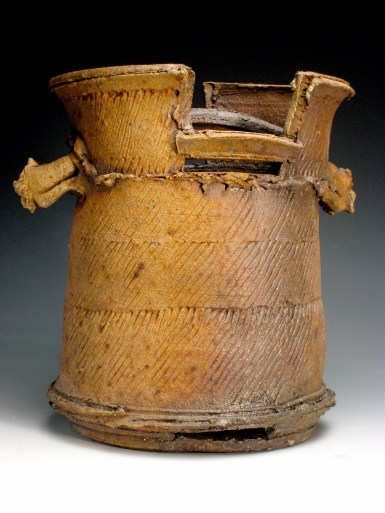 """Title: Water Bucket Date: 2008 Materials: Reduction cooled, wood fired stoneware Dimensions: 18"""" h x 10""""w Photo Credit: Danny Crump"""