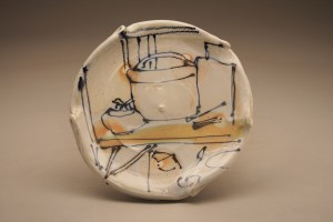 Josh DeWeese Small Plate, 2014, stoneware, salt/soda fired, underglaze and glaze