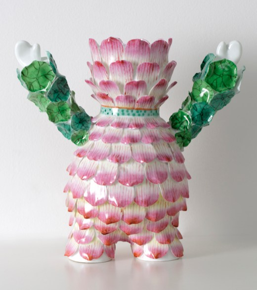 "Vipoo Srivilasa, ""The Patience Flower"" 2014, Jingdezhen super white porcelain, 10 x 6.6"
