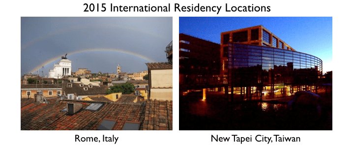 International Residency Applications Due!