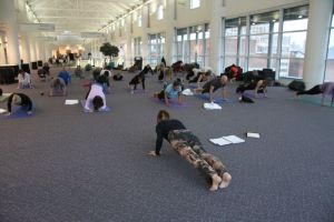 Deb Chronister leads Yoga