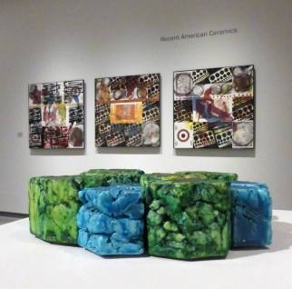 "Cary Esser and Joyce Jablonski in ""Recent American Ceramics"" at the Daum Museum in Sedalia, MO."