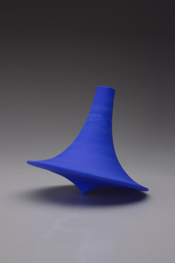 Wobble Vase 2015 Cast Porcelain Cone 10 oxidation 12x15x15 This vase is designed to wobble about