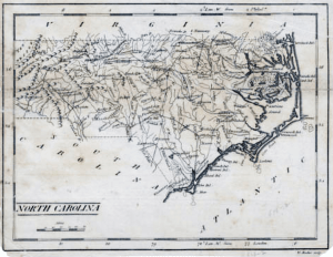 Carey's pocket atlas map of North Carolina 1796-1810, State 3: 1805, 1806, 1810