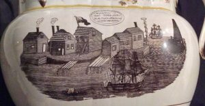 Panoramic view of Shell Castle transfer print