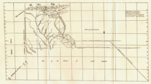 1769 James Cook survey of the Catawba River in North Carolina