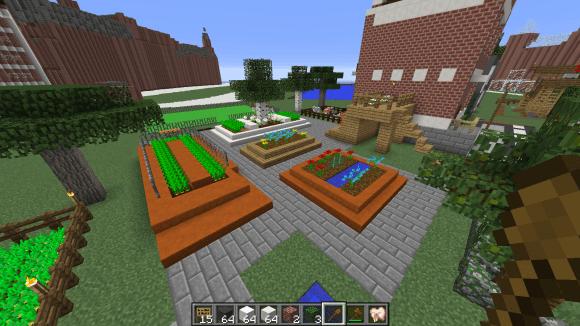 Minecraft - urban gardens