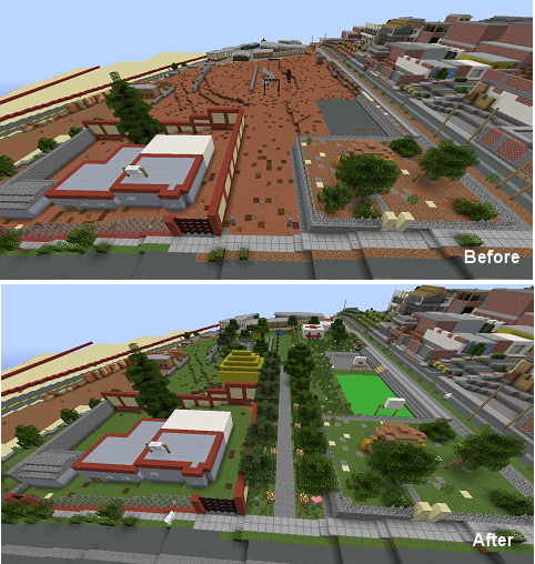 Minecraft - BBB before/after