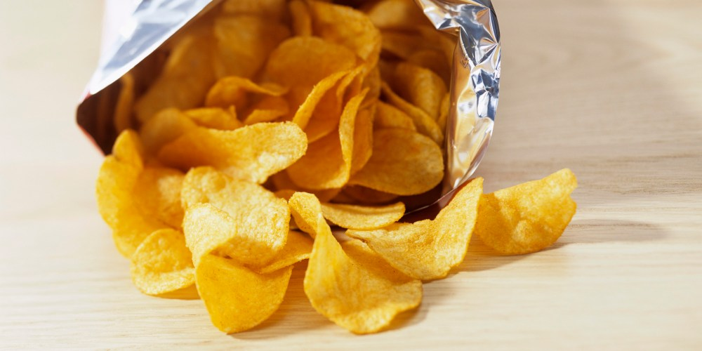 Bag of potato crisps
