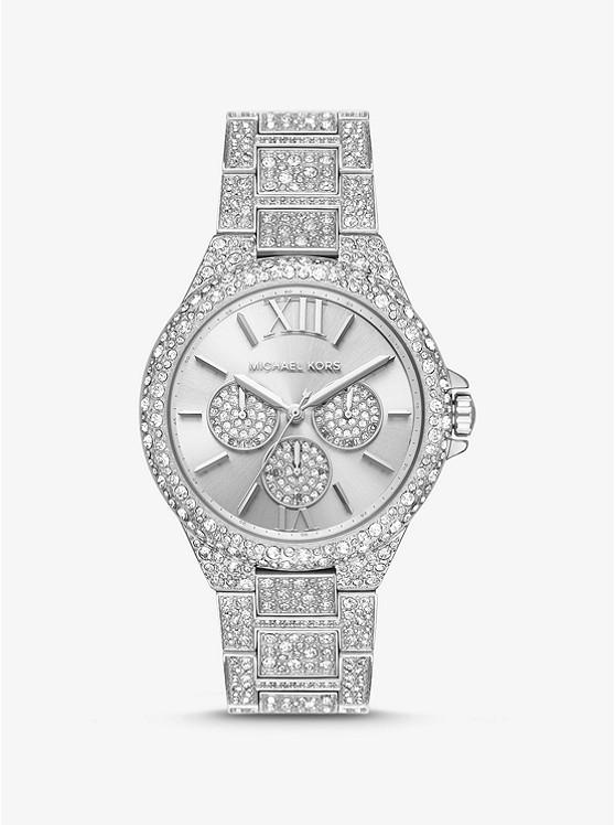 Michael Kors Oversized Silver-Tone Watch