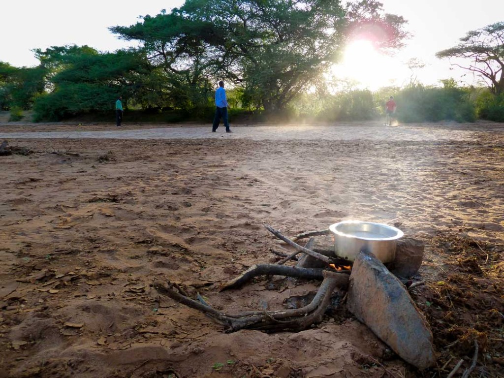 Making coffee and playing soccer after a long day of driving, northern Kenya | Photo by Nelson Guda © 2019