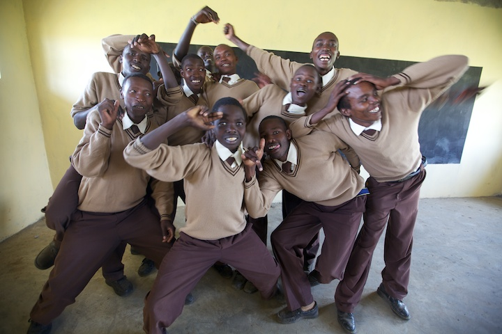Awesomely crazy Masai students near the Masai Mara | Photo by Nelson Guda