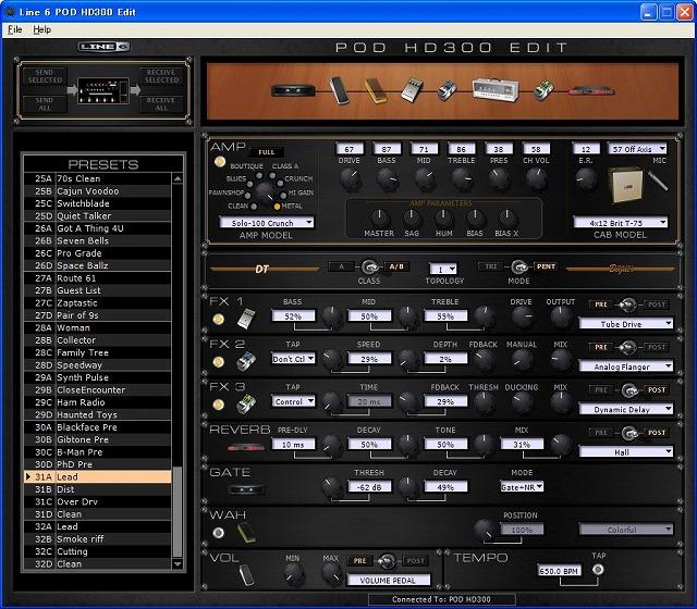 PODHD300で作ったLEAD音