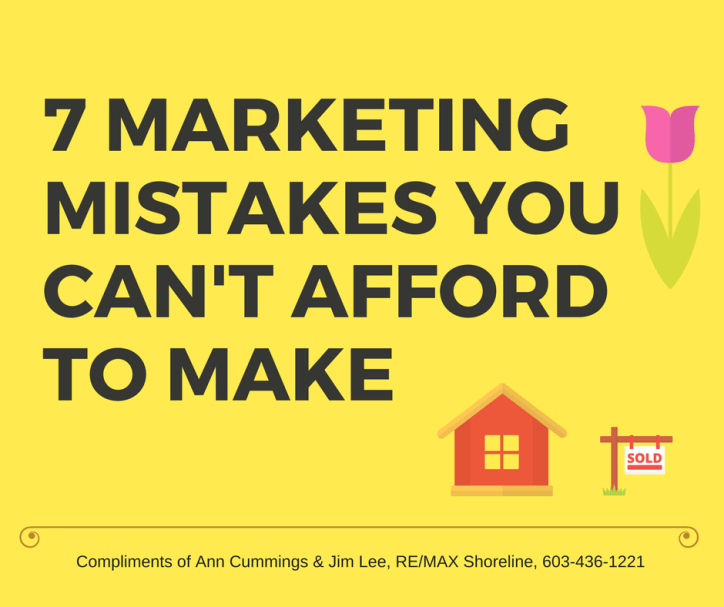 7 Marketing Mistakes you can't afford to make
