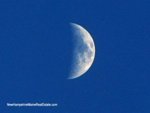 Moon over Portsmouth NH