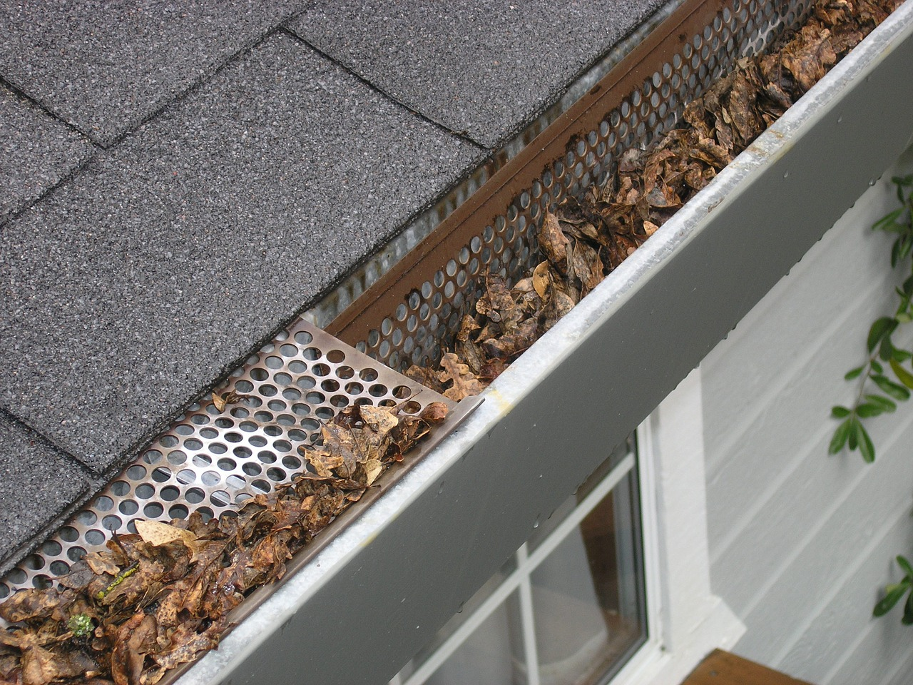 cleaning gutters in fall