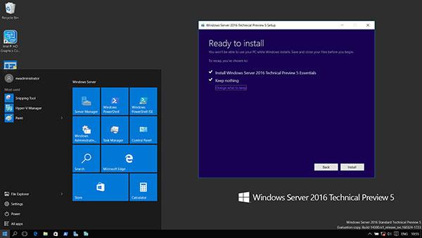 Windows Server 2016 UI
