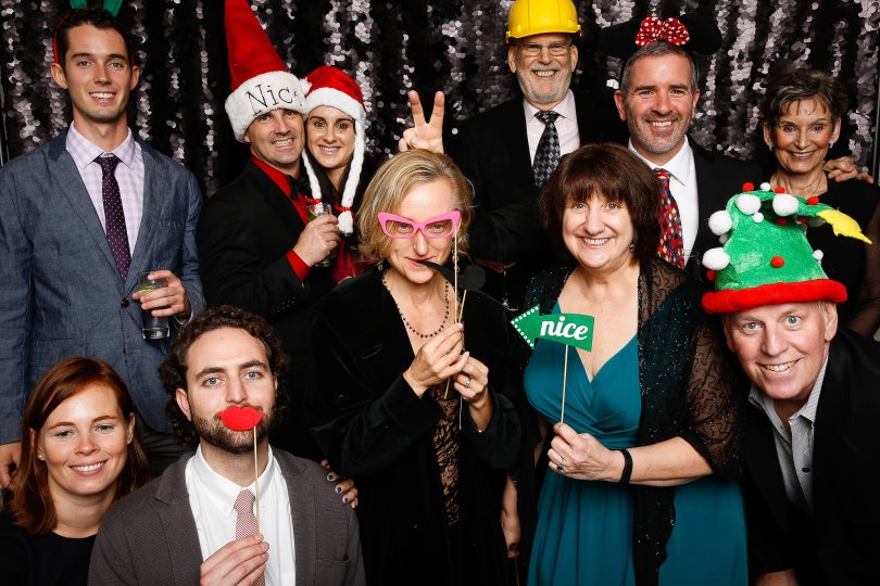 Jeremie and the Public Agency Team at Nextdoor's 2014 holiday party.