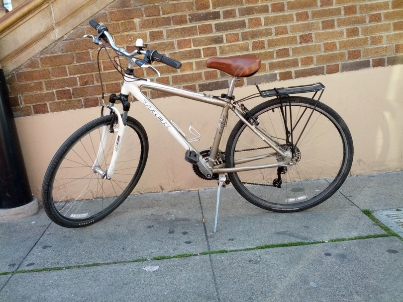 The photo of Caio's bike that helped neighbors later identify it.