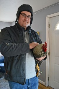 Mike and William the rooster.