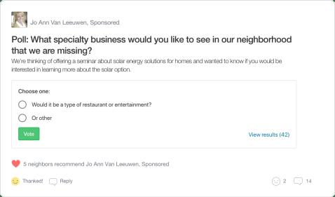 Nextdoor Real Estate Agent Poll Pos