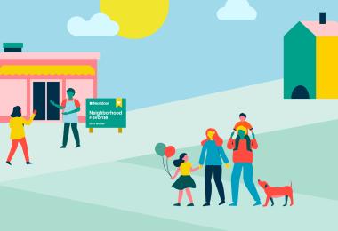 Small Business Saturday illustration Nextdoor