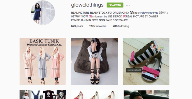 online shop di instagram