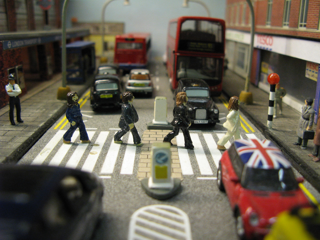 Replica of The Beatles Abbey Road