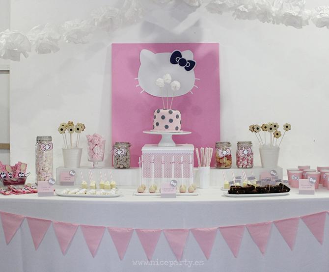 Nice Party mesa de dulces Hello Kitty (3)